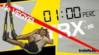 1 perc TRX – gyakorlat, amihez ne használj TRX-et (FELESLEGES!!!)