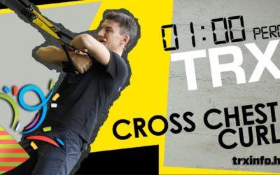 1 perc TRX – Cross chest curl 3..2…1…